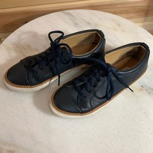 Steven Madden youth leather navy dress shoes SZ 3